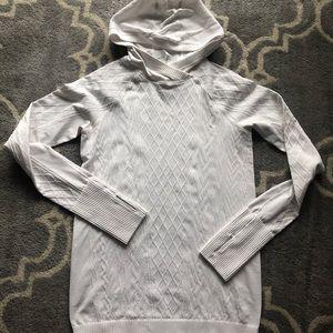 Lululemon Size 8 White Rest Less Hooded Pullover